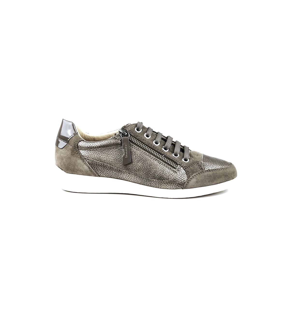 Baskets Femme GEOX MYRIA basses plomb/taupe|Univers Chaussures
