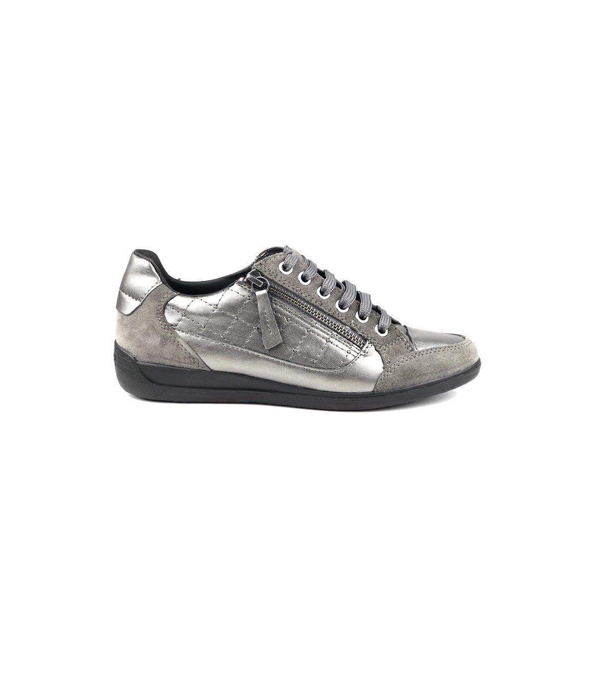 Baskets Femme GEOX MYRIA basses gris confortable |Univers